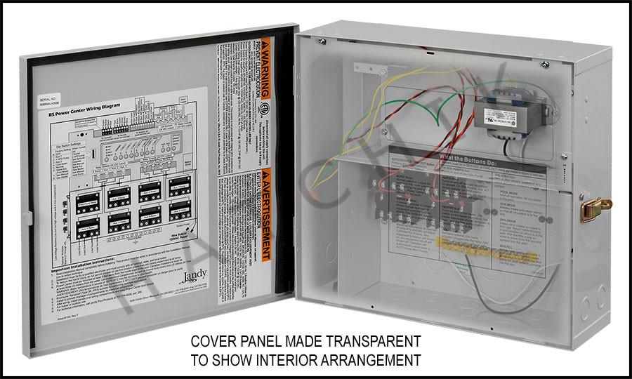 jandy 6613 standard power center for aqualink rs 120v Service Wiring Diagram