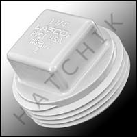 """V5012 PLASTIC PLUG """"B"""" 1-1/4"""" WHITE"""