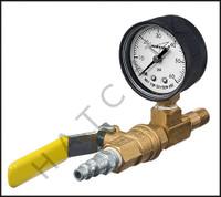 V5228 AIR PRESSURE TEST MANIFOLD W/ GAUGE GAUGE