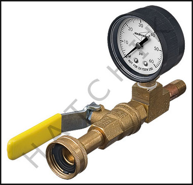 V5230 WATER PRESSURE TEST MANIFOLD W/ GAUGE