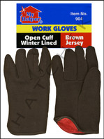 V7094 JERSEY WORK GLOVE/ RED LINED