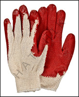 V7097 VINYL PALM GLOVES - RED