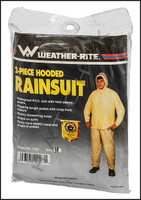 V7141 RAIN SUITS  2-PIECE VINYL MED. SIZE: MEDIUM (DETACHABLE HOOD)