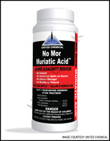 A3156 UNITED CHEMICAL NO MOR MURIATIC- ACID  12 X 2.5# BOTTLE