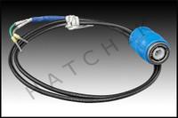 V8062 ACU-TROL BT-B02 CABLE, BNC TO WIRE  2' BLUE