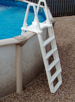 "W3037 CONFER #7100X A-FRAME LADDER ADJ. 48"" TO 54""  COLOR: WHITE"