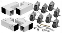 W5167 GLI CASTER KIT FOR HURRICANE I.G. REEL (8-CASTERS)