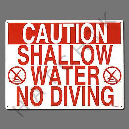 Sign Quot Shallow Water No Diving 40341