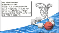 Y2034 POOLMASTER PRO ACTION WATER BASKETBALL GAME  #72704