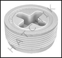 Z5036 SYLVAN-JOSAM PLUG 1-1/2 WHITE PLASTIC - FLUSH
