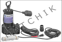 K1042 SUPERIOR SUMP PUMP 1/3HP W/FLOAT- SWITCH 25' CORD