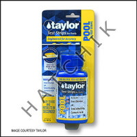 B1050 TAYLOR TEST STRIPS 4-WAY FREE-CL/ pH/ALK/CYA 50cT #S-1331