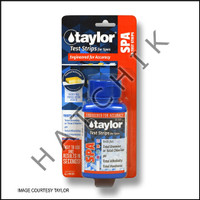 B1052 TAYLOR TEST STRIPS 5-WAY TOT-BR/ TOT-CL/pH/ALK/HARD 50cT #S-1332