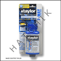 B1054 TAYLOR TEST STRIPS 7-WAY FREE-CL/ TOT-BR/CL/pH/ALK/H/CY 50cT #S-1335