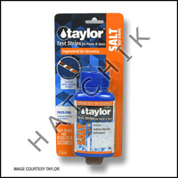 B1056 TAYLOR TEST STRIPS SALT 0-5000 PPM (10ct) #S-1341