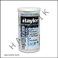 B1058 TAYLOR TEST STRIPS SERVICE PRO 5- WAY (100ct) #S-1351