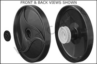 E2454 POLARIS 9-100-1004 DOUBLE-SIDE WHEEL - BLACK      (380/360)