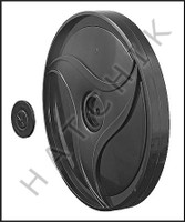 E2458 POLARIS 9-100-1117 SINGLE-SIDE WHEEL  BLACK  (380/360)