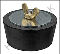 FF1111 WINTERIZING PLUG #11  W/BRASS WING BRASS WING NUT