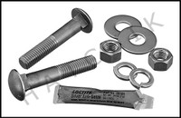 "G4012 DURAFLEX 5/8"" X 3-1/2"" CARRIAGE BOARD BOLT W/NUT S.S. (SET OF 2)"