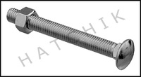 "G4014 DURAFLEX SF141  5/8"" X 5-1/2 ZINC PLATED BOARD BOLT W/ NUT"