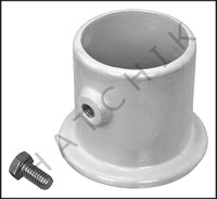 G5130 DECK ANCHOR FLANGE- WH ALUM 1.9 FOR LADDER  1.9 OD-CENTER HOLE