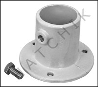 G5131 DECK ANCHOR FLANGE- WH ALUM 1.5 FOR LADDER  1.5 OD-3 HOLES