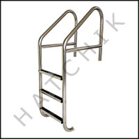 "G7023 LADDER-COMMERCIAL 24"" CROSS BRACE W/ 3 S.S. TREADS"