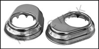 G7131 ESCUTCHEON PLATE-S.S. 1.9 KEY PAIR KEYED (SOLD AS A PAIR)