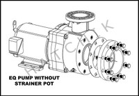 H1077 PENTAIR 7.5HP/1PH EQ-750 PLASTIC PUMP 230V WITH OUT STRAINER
