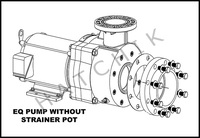 H1078 PENTAIR 7.5HP/3PH EQK-750 PLASTIC PUMP 208/230/460 WITH OUT STRAINER