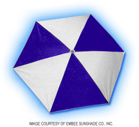 H1195 LIFE GUARD CHAIR UMBRELLA BLUE/WHT 2 PCS COLOR:ROYAL BLUE & WHITE