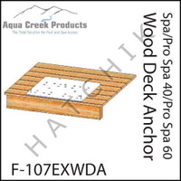 H1344 AQUA CREEK WOOD DECK ANCHOR FOR PRO 40 & 60 F-107EXWDA