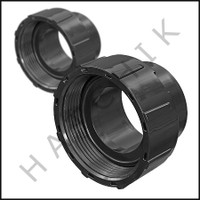 H2123 JANDY R0327300 COUPLING NUTS W/ FLANGE & O-RING (SET OF 2)