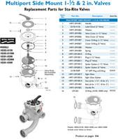 H5184 STA-RITE #WC212-143P 1-1/2 MULT VALVE NEW #18202-0150