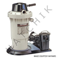 H6011 HAYWARD EC40C92S D E FILTER SYSTEM W/ 1HP PUMP & HOSE