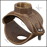 "H7095 SADDLE TEE CLAMP-BRASS 2 W/  3/4"" TAP"