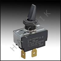 J1562 RAYPAK #650761 ON/OFF SWITCH SWITCH-TOGGLE SPST 3A/6ABLK