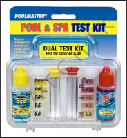 B1004 POOLMASTER #22240 DUAL TEST KIT W/ CLEAR CASE