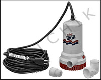 "K1024 RULE COMPUTERIZED SUBMERSIBLE PUMP W/24' CORD-1800 GPH (1"")"