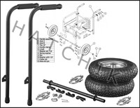 "K1078 KOSHIN WK-12 HD WHEEL KIT FOR 3"" T TRASH PUMP"