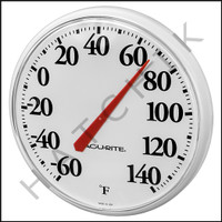 B1271 ACU-RITE 12.5 INDOOR/OUTDOOR THER THERMOMETER  COLOR:BASIC WHITE