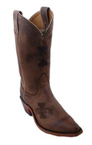Nocona LDISU11 Women's Iowa State University Brown Branded College Boot Size 6 Medium