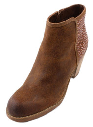 Carlos by Carlos Santana Driskill Women's Beige Suede Studded High Ankle Booties