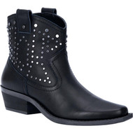 """DINGO DI150 'Dusty' Women's 6"""" Black Leather Ankle Booties"""