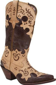 Durango® DCRD138 Chocolate Tan Western Boot