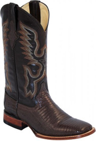 Ferrini Teju Lizard Chocolate S-Toe Western 11193-09