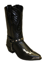 Sage 3036 Mens Black Snip Toe Harness Western Boots