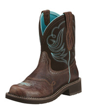 ARIAT 10016238 Fatbaby Heritage Dapper Womens Royal Chocolate/Fudge Leather Western Boots