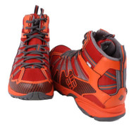 Columbia Talus Ridge Mens Chili Pepper/Grey Mid Hiking Boots size 7
